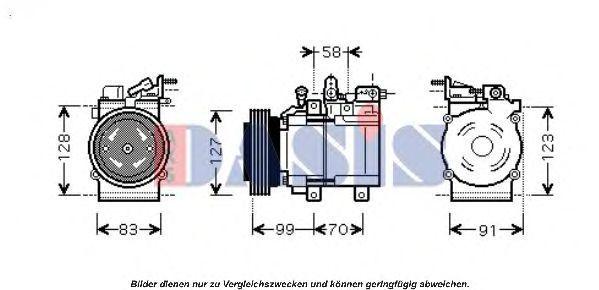 Компрессор, кондиционер AKS DASIS 851672N