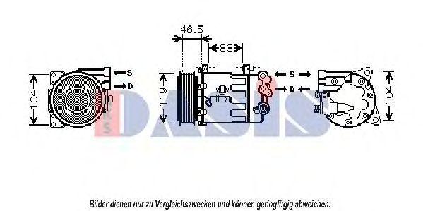 Компрессор, кондиционер AKS DASIS 851873N