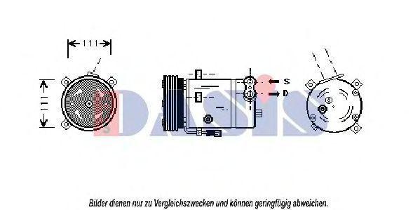 Компрессор, кондиционер AKS DASIS 852200N