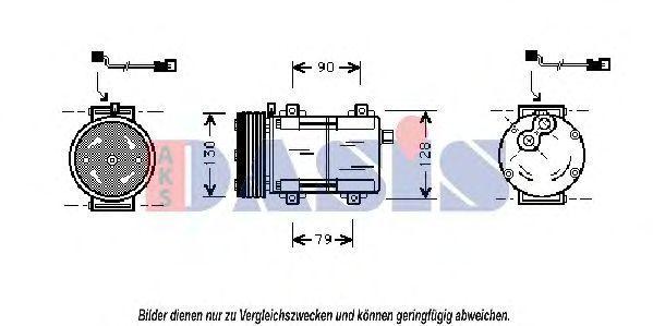 Компрессор, кондиционер AKS DASIS 852440N