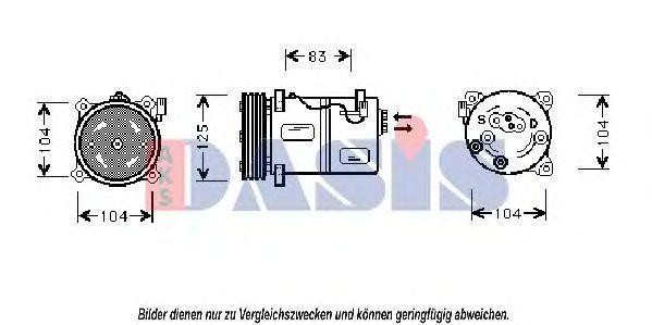 Компрессор, кондиционер AKS DASIS 852970N