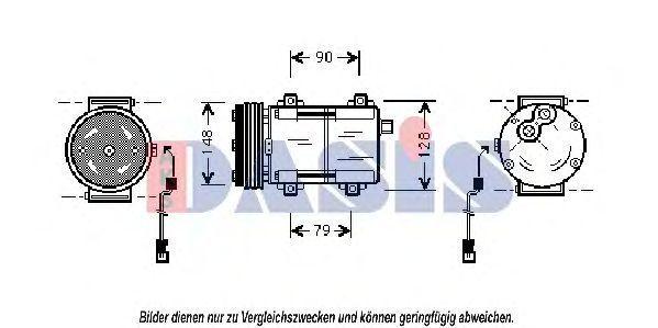 Компрессор, кондиционер AKS DASIS 853180N