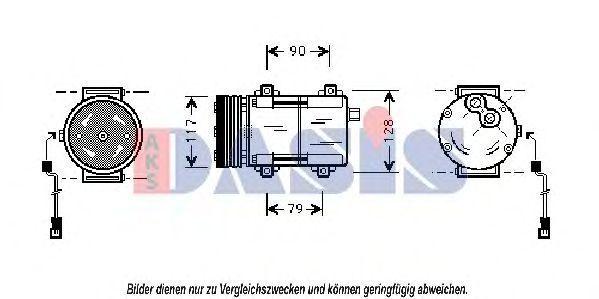 Компрессор, кондиционер AKS DASIS 853420N