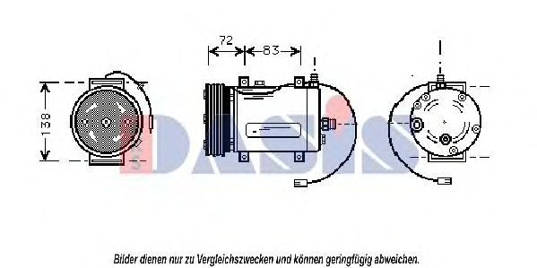 Компрессор, кондиционер AKS DASIS 853510N