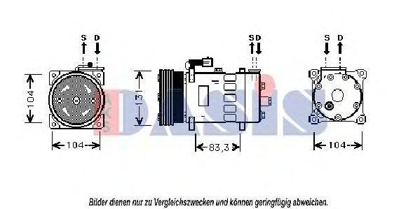 Компрессор, кондиционер AKS DASIS 853640N