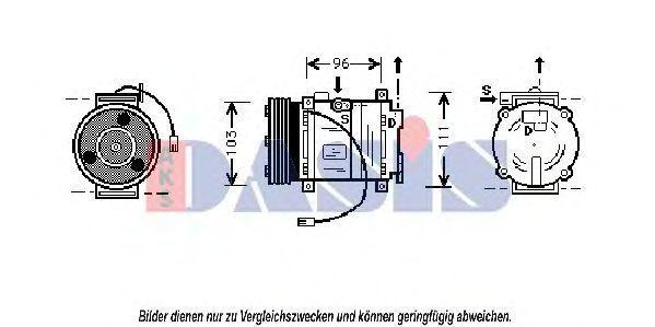 Компрессор, кондиционер AKS DASIS 858395N