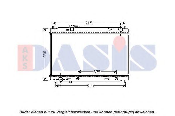 Радиатор, охлаждение двигателя AKS DASIS 070176N