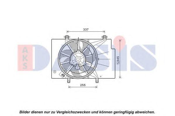 Вентилятор, охлаждение двигателя AKS DASIS 098138N