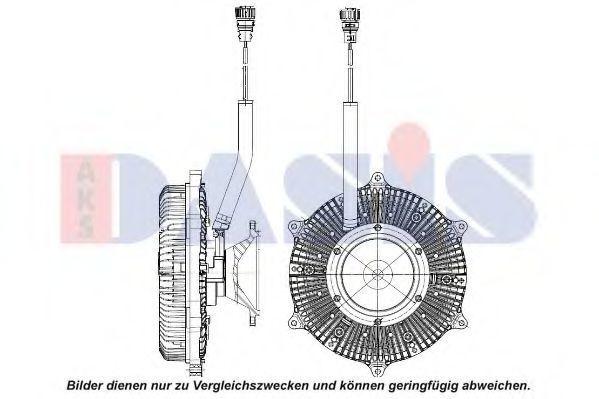 Сцепление, вентилятор радиатора AKS DASIS 138087N