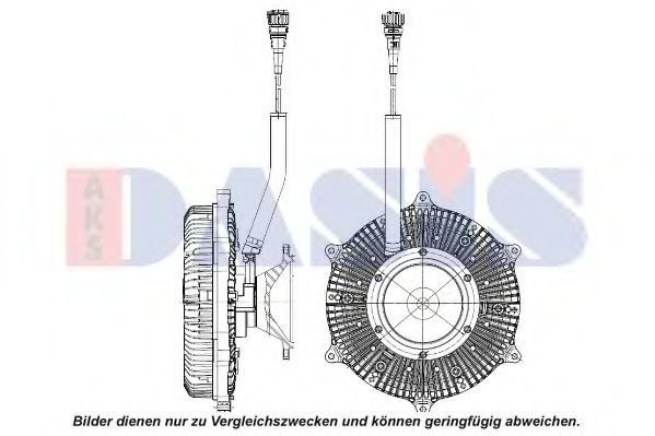 Сцепление, вентилятор радиатора AKS DASIS 138085N