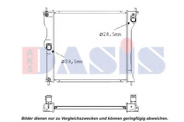 Радиатор, охлаждение двигателя AKS DASIS 140107N