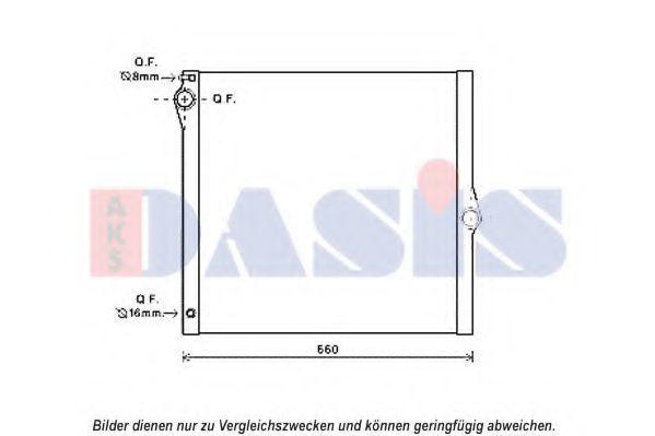 Радиатор, охлаждение двигателя AKS DASIS 050065N