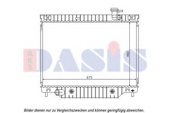 Радиатор, охлаждение двигателя AKS DASIS 520129N