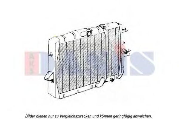 Радиатор, охлаждение двигателя AKS DASIS 120107N