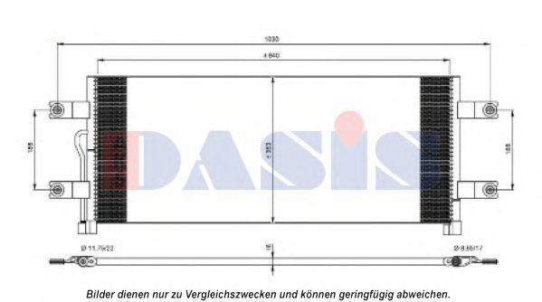 Конденсатор, кондиционер AKS DASIS 132013N