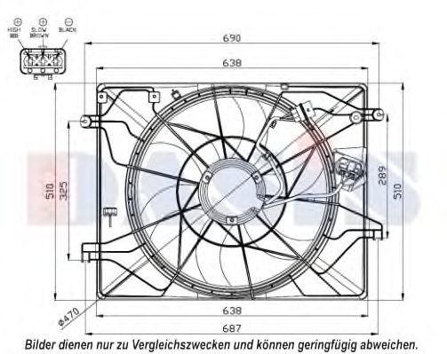 Вентилятор, охлаждение двигателя AKS DASIS 568048N