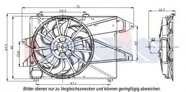 Вентилятор, охлаждение двигателя AKS DASIS 098113N