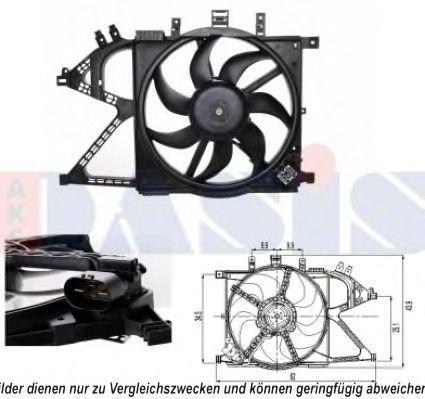 Вентилятор, охлаждение двигателя AKS DASIS 158086N