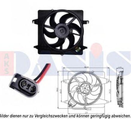 Вентилятор, охлаждение двигателя AKS DASIS 098117N