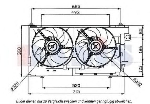 Вентилятор, охлаждение двигателя AKS DASIS 068023N