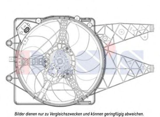 Вентилятор, охлаждение двигателя AKS DASIS 018011N