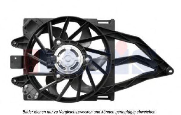 Вентилятор, охлаждение двигателя AKS DASIS 088067N