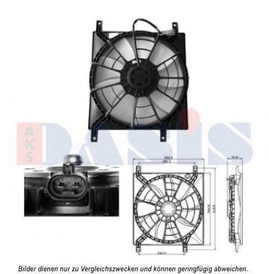 Вентилятор, охлаждение двигателя AKS DASIS 088075N
