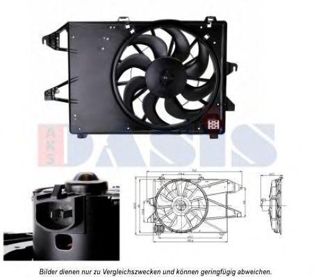 Вентилятор, охлаждение двигателя AKS DASIS 098119N