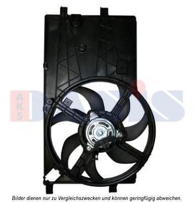 Вентилятор, охлаждение двигателя AKS DASIS 068054N