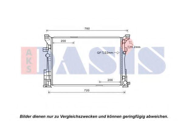 Радиатор, охлаждение двигателя AKS DASIS 120112N