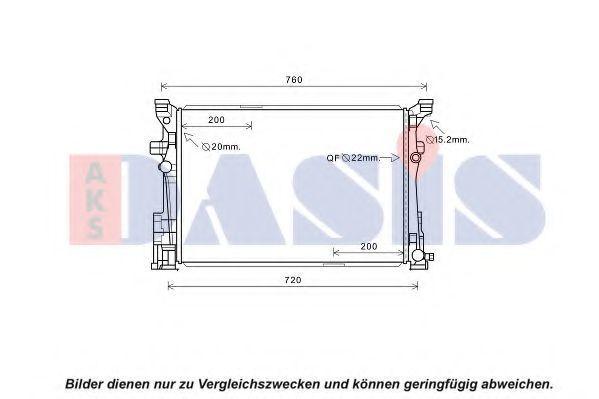 Радиатор, охлаждение двигателя AKS DASIS 120113N