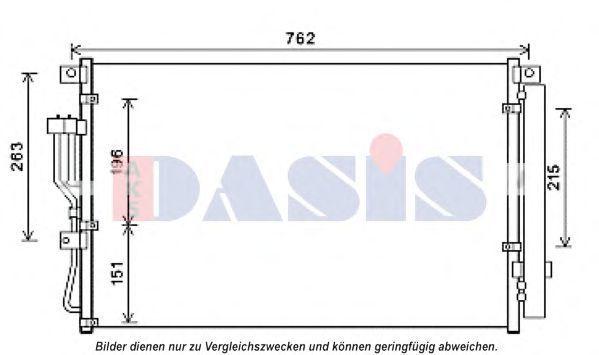 Конденсатор, кондиционер AKS DASIS 562046N