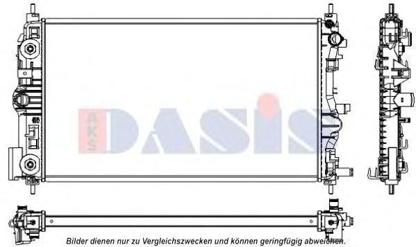 Радиатор, охлаждение двигателя AKS DASIS 520137N