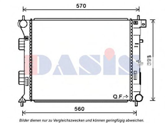 Радиатор, охлаждение двигателя AKS DASIS 560089N