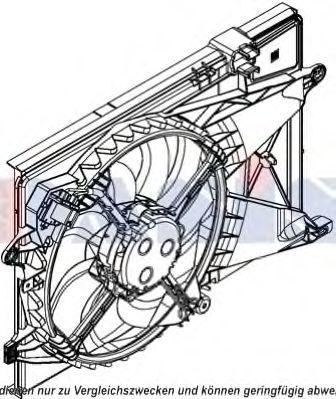 Вентилятор, охлаждение двигателя AKS DASIS 528050N