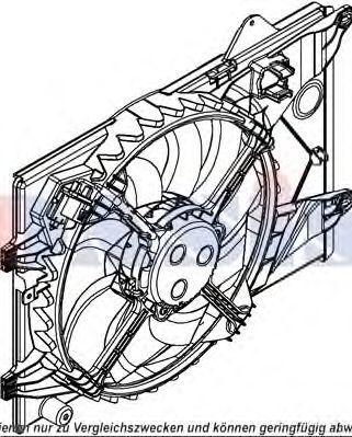 Вентилятор, охлаждение двигателя AKS DASIS 528051N