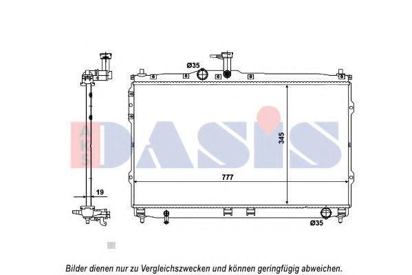 Радиатор, охлаждение двигателя AKS DASIS 510167N