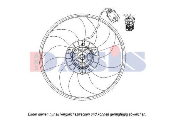 Вентилятор, охлаждение двигателя AKS DASIS 158111N