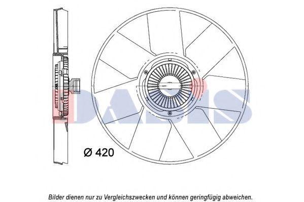 Вентилятор, охлаждение двигателя AKS DASIS 158113N