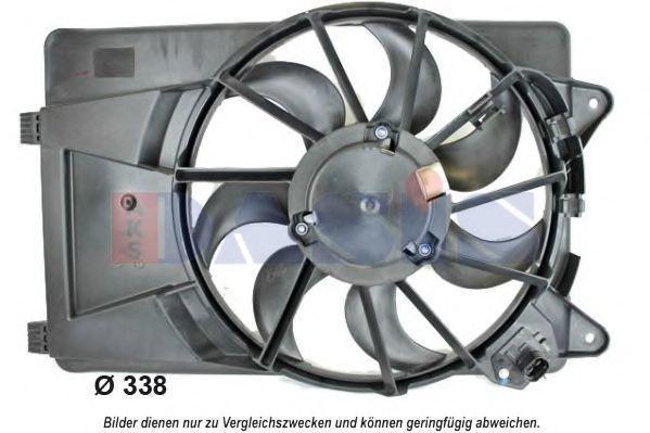 Вентилятор, охлаждение двигателя AKS DASIS 088115N