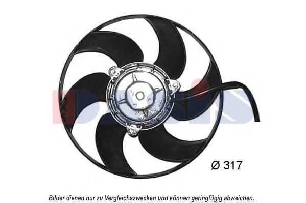 Вентилятор, охлаждение двигателя AKS DASIS 068064N