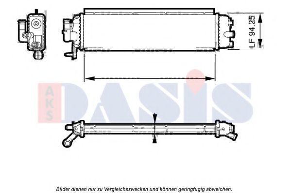 Радиатор, охлаждение двигателя AKS DASIS 060061N