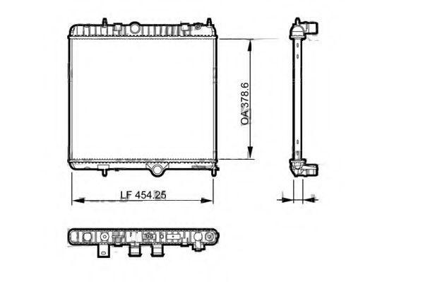 Радиатор, охлаждение двигателя AKS DASIS 060048N