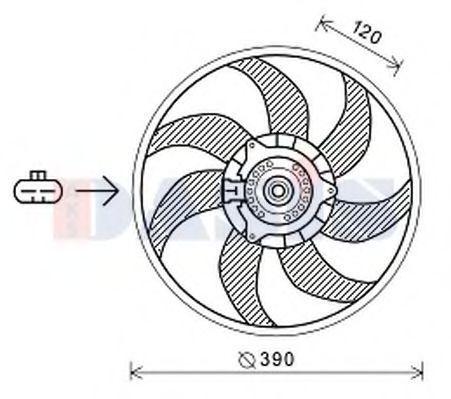 Вентилятор, охлаждение двигателя AKS DASIS 158117N