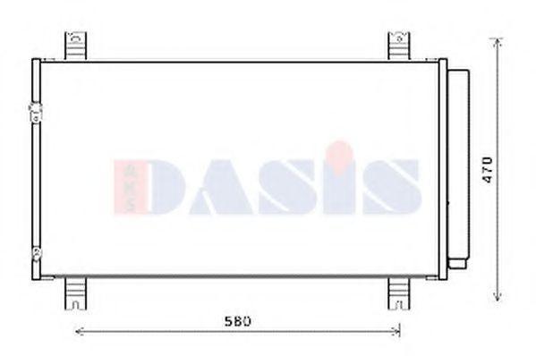 Конденсатор, кондиционер AKS DASIS 142037N