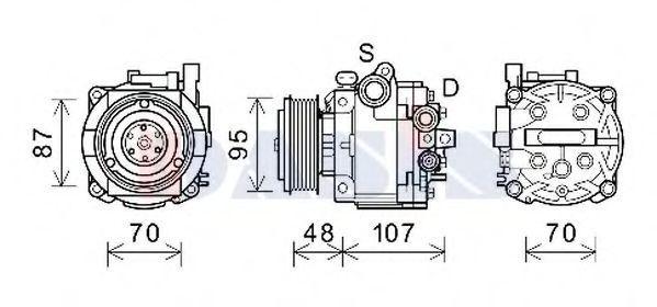 Компрессор, кондиционер AKS DASIS 852871N