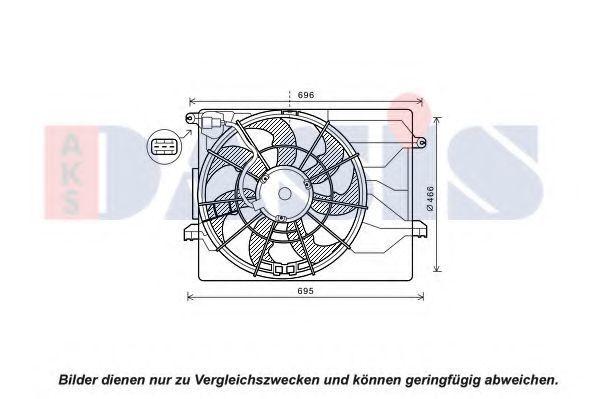 Вентилятор, охлаждение двигателя AKS DASIS 518111N