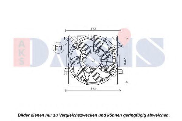 Вентилятор, охлаждение двигателя AKS DASIS 518110N