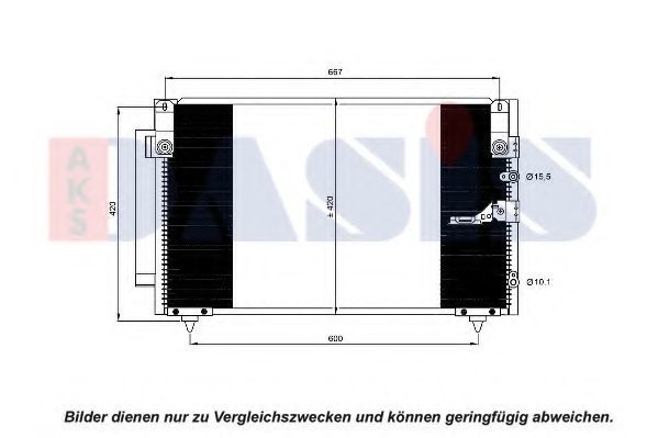 Конденсатор, кондиционер AKS DASIS 212111N