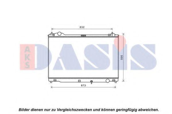 Радиатор, охлаждение двигателя AKS DASIS 210265N